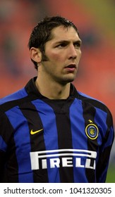 MILAN, ITALY-OCTOBER 30, 2002: FC Internazionale's italian famous soccer player Marco Materazzi, portraited during the Italian League Serie A, at the San Siro soccer stadium, in Milan.