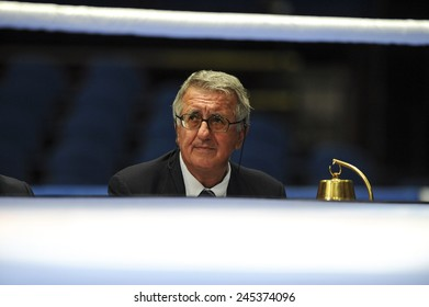 MILAN, ITALY-SEPTEMBER 03, 2009: judge and box ring bell , during the amateur world boxing championship, in Milan.