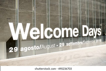 MILAN, ITALY-SEPTEMBER 26 2016: welcome days at the Bocconi University, in Milan.