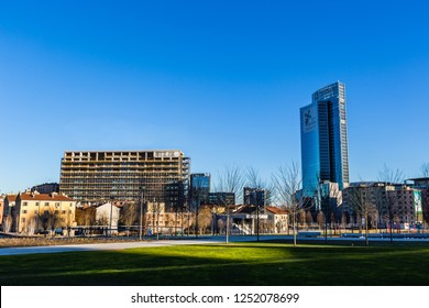 Milan, Lombardy, Italy- December 29 2017:This is 'Pirellone' skyscraper Palace of Government of Lombardy region.