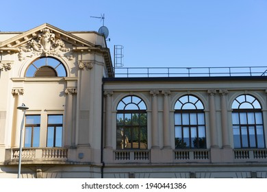 Milan, Lombardy, Italy: exterior of historic restored building in the Citylife park