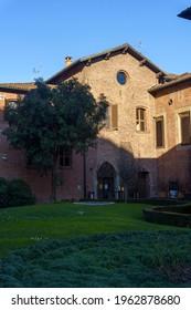 Milan, Lombardy Italy: exterior of the historic Santa Maria delle Grazie church