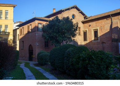 Mailand, Lombardei Italien: Fassade der historischen Kirche Santa Maria delle Grazie
