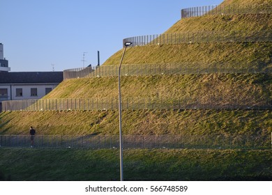 Milan (Lombardy, Italy): hill with spiral path in the new Portello park