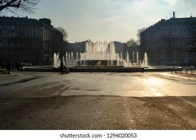 Milan, Lombardy / Italy - January 24th 2019: Milan, Castello Sfo