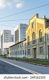 Milan (Lombardy, Italy): old and modern buildings along the same street