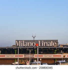 MILAN - MARCH 8, 2015: Milan Linate airport is the second international airport of Milan, the second-biggest city of Italy.