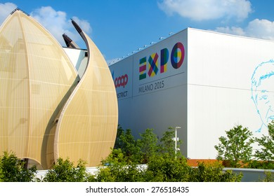 MILAN - MAY 06 2015: Pavilion at Expo 2015, universal exposition on the theme of food in MILAN, ITALY
