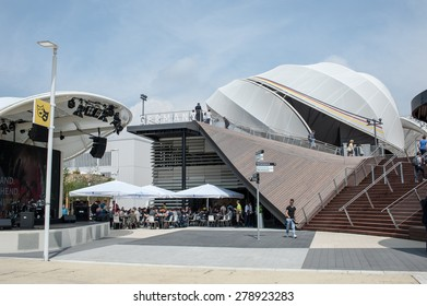 Milan - May 6, 2015 - Milan Expo 2015, Germany pavilion