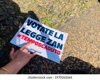 Milan, May 8th 2021: ddl Zan rally