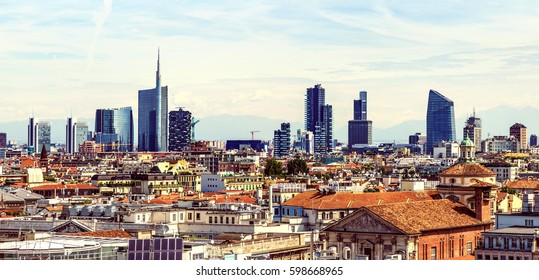 Milan new city view from above horizontal