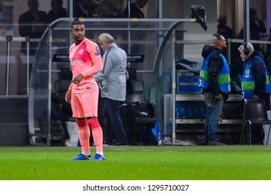 Milan - Nov 6, 2018: Malcom 14. FC Internazionale - FC Barcelona. UEFA Champions League. Matchday 4. Giuseppe Meazza (San Siro) stadium.