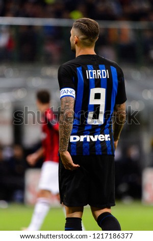 85a864455 MILAN OCT 21 2018 Mauro Icardi Stock Photo (Edit Now) 1217186377 ...