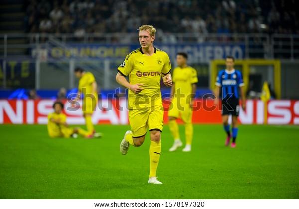 Milan - Oct 23, 2019: Julian Brandt 19. FC Inter - Borussia Dortmund. Champions League. Stadio San Siro