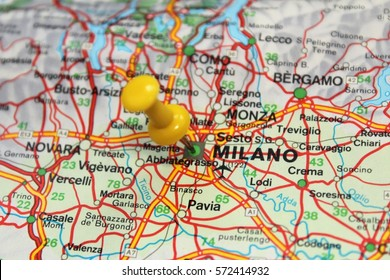 Milan pinned on the map