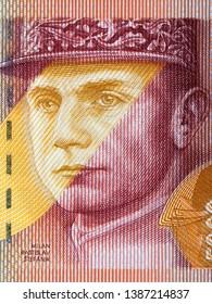 Milan Rastislav Stefanik a portrait from Slovak money