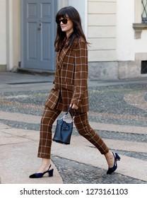 Milan - September 2018: Milan Fashion Week, Eleonora Carisi at TOD's Spring/Summer 2019 fashion show