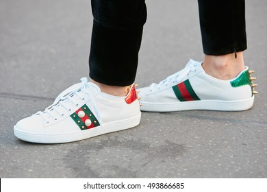 white gucci gym shoes