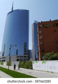 Milan / Unicredit Tower / picture showing the Unicredit Tower in Milan, taken in April 2014