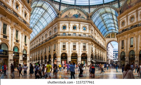 Milan/Italy - 16 August 2015: Views of the Milan Shopping Mall