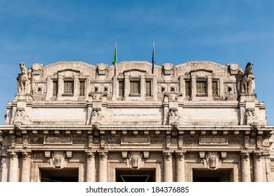 Milano Centrale - The main railway stration of Milan, Italy.