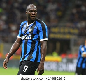 Milano, Italia- August 26,2019: Romelu Lukaku during football match serie A League 2019/2020 between Inter vs Lecce at the San Siro Stadium in Milan.