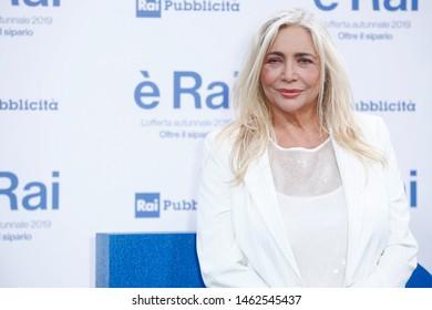 MILANO, ITALIA - JULY 9 : Mara Venier attends RAI's press conference of program schedules for the television season 2019/2020 on July 9, 2019 in Milan, Italy.