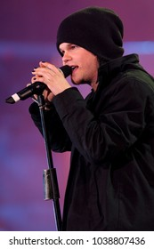 """Milano Italy 05/29/2004, Arena Civica : Lauri Ylonen of The Rasmus in concert during the musical event """"Festivalbar 2004""""."""