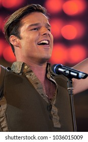 """Milano Italy 05/31/2003, Civic Arena :  Ricky Martin in concert during the musical event """"Festivalbar 2003""""."""