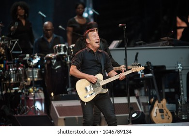 Milano Italy  06/03/2013 : Live concert of Bruce Springsteen at the San Siro stadium