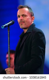 """Milano Italy 06/14/2007, Duomo Square :  Miguel Bose in concert during the musical event """"Festivalbar 2007""""."""