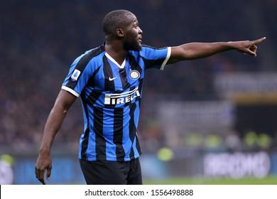 Milano, Italy. 09th Novembre 2019. Italian Serie A. Fc Internazionale vs Hellas Verona Fc. Romelu Lukaku of FC Internazionale.
