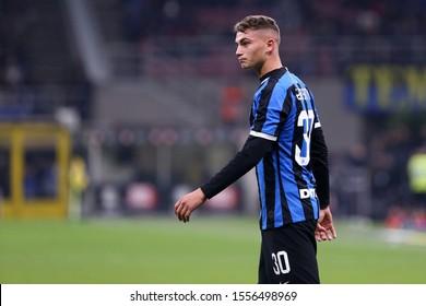 Milano, Italy. 09th Novembre 2019. Italian Serie A. Fc Internazionale vs Hellas Verona Fc. Sebastiano Esposito of FC Internazionale  .