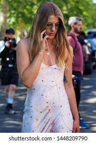 MILANO, Italy: 16 June 2019: Fashion blogger street style outfit after United Standard fashion show during Milano Fashion Week man  2019/2020