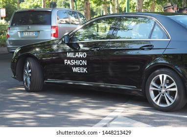 MILANO, Italy: 16 June 2019: Milano fashion week car after United Standard fashion show during Milano Fashion Week man  2019/2020