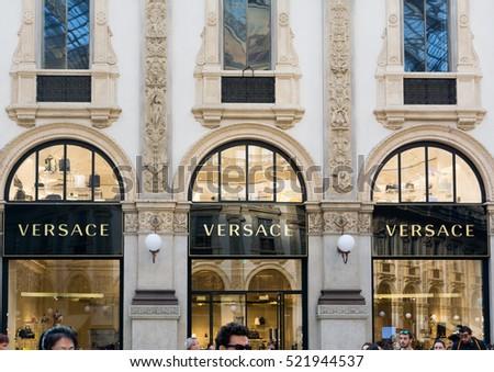 a070446213 Milano Italy 24 November 2016  Versace boutique in Milan. Versace is an  Italian fashion
