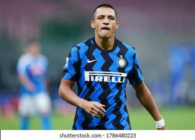 Milano (ITALY) 28th July 2020. Italian Serie A. Fc Internazionale vs Ssc Napoli. Alexis Sanchez of FC Internazionale  .