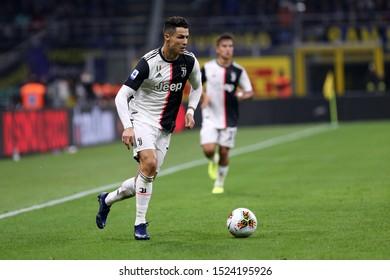 Milano. Italy. 6th October 2019. Italian Serie A. Fc Internazionale vs Juventus Fc. Cristiano Ronaldo of Juventus FC.