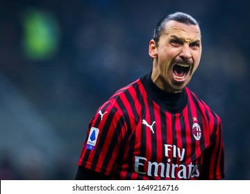 Milano, Italy, February 09 2020 zlatan ibrahimovic of ac milan during FC Internazionale vs AC Milan italian Serie A soccer match