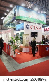 MILANO, ITALY - FEBRUARY 16, 2012: People visit China tourism exhibition area during BIT, International Tourism Exchange Exhibition in Milano, Italy.