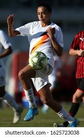 Milano, Italy, January 20 2020 andressa alvas from silva (roma) during AC Milan vs Roma Women Italian Soccer Serie A Women Championship