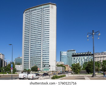 Milano, Italy. June 15, 2020. The famous Pirelli tower or called also Pirellone. It is the building in Milan where the Lombardy Regional Council is based