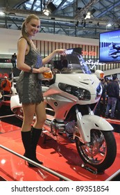 MILANO, ITALY - NOVEMBER 13: EICMA Motorcycle Exhibition on November 13, 2011 in Milan, showing Honda Gold Wing