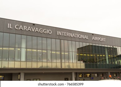 Milano, Italy. November 6 2017. The main building of Il Caravaggio International Airport.