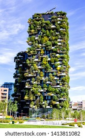 Milano May 5, 2019 - New Residential building in Milan- Vertical Forest in spring - Image