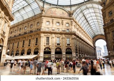Milano Shopping Mall Galleria Vittorio Emanuele 2 in Italy