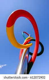 Milano/Italy, 14th August 2014: Piazzale Cadorna Rail Station, Milano. Claes Oldenburg and Coosie Van Bruggen monument
