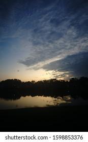 Mild Sunset over a Lake