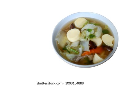 mildly seasoned soup, The food is made easy and have many vegetables.