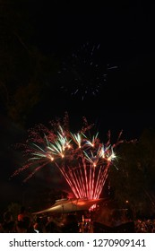 Mildura New Year's eve Fireworks, 31 Dec 2018 at River front Mildura VIC Australia